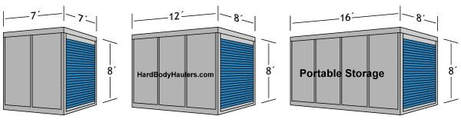 Portable Storage Container Sizes